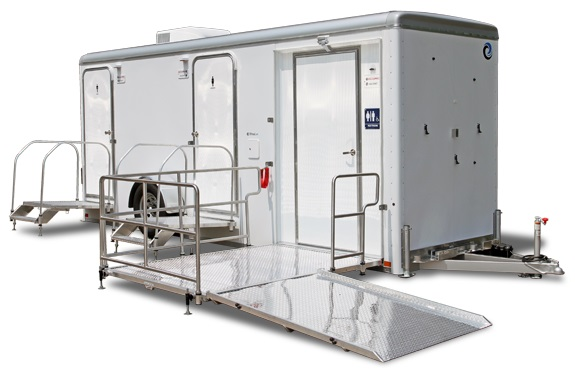 New York ADA Portable Bathroom Trailers With Wheelchair Ramp in New York.