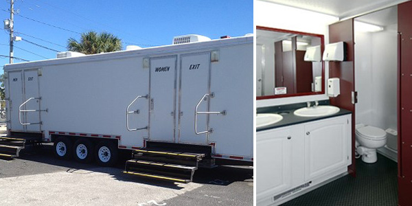 The Excelsior Mobile Bathroom Trailer In New York Can Run On A Generator.