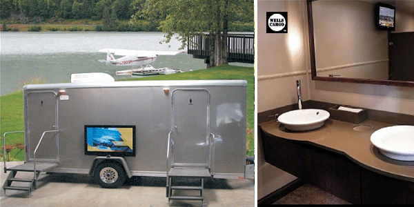 The Hamptons Mobile Bathroom/Shower Trailer Rental in New York